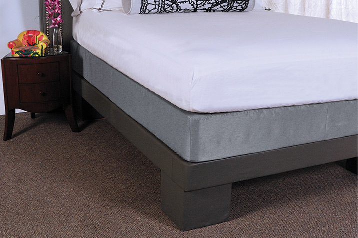 Dressed Bed with Box Spring Cover
